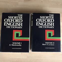 The Shorter Oxford English Dictionary Vols 1 And 2 Retro Volumes