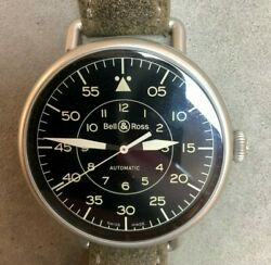 Bell And Ross Ww1-92 Military 45mm Steel Mens Watch Brww192-mil/sca Selling As-is