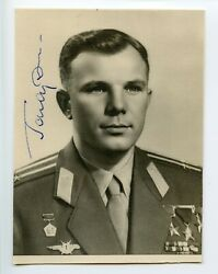 Gagarin Double Autograph Signed Photo Signature Soviet Space Ussr 18.11.1964