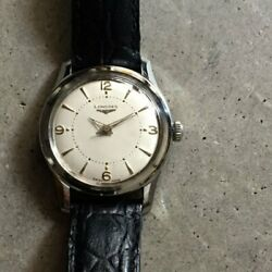 1950s Longines Analog Minute Dots Center Second Cal.23zs Manual 43mm X 34mm