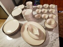 Pickard Crescent China Collection, Plates, Cups Etc, 1123, Made In Usa