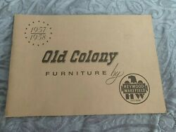 Vintage 1957-1958 Old Colony Furniture By Heywood-wakefield Catalog Free Ship