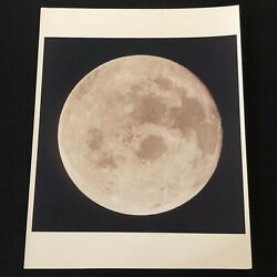 View Of The Entire Nearside Of The Moon | Vintage Nasa Photograph, 21 July 1969