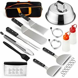 Blackstone Grill Accessories Set, 14 Pcs Griddle Barbecue Tools Kit- Outdoor Bbq