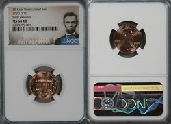 2020-d Lincoln Cent Ngc Ms68 Ms 68 Rd Ms68rd Shield Penny