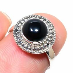 Black Onex Gemstone Handmade 925 Solid Sterling Silver Jewelry Ring Size 6