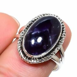 Cacoxenite Gemstone Handmade 925 Solid Sterling Silver Jewelry Ring Size 8