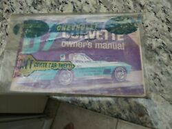 1967 Original 1st Edition Corvette Owners Manual With 1/2 News Card