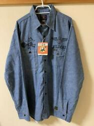 Near Mint Toys Mccoy Chambray Shirt Felix The Cat Menand039s Size 17 From Japan
