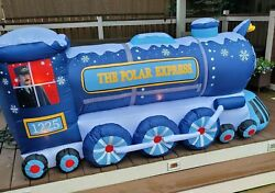 9' Classic Polar Express Train Airblown Lighted Yard Inflatable