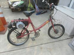 1978 Amf Roadmaster Pedal Moped Bike Comes With New Parts