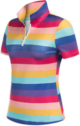 Jack Smith Small Women#x27;s Striped Golf Shirt Short Sleeve Blouse Casual Polo $10.00