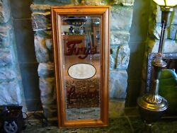 Vintage Antique Fry's Chocolate Framed Advertising Mirror 27 3/4 By 9 3/4 Nice