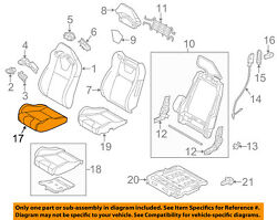 Ford Oem 13-14 Mustang Front Seat-cushion Bottom Cover Right Dr3z6362900cc