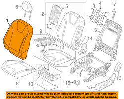 Ford Oem 13-14 Focus Passenger Seat-seat Back Cover Right Cv6z5864416ma