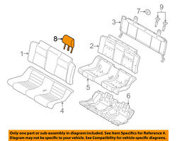 Ford Oem 13-14 Mustang Rear Seat-headrest Head Rest Right Dr3z54611a08ca