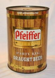Pfeiffer 1889 Party Keg Draught Beer Can Gallon Can
