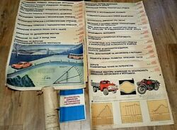 VINTAGE POSTERS USSR 1988s quot;SAFETY OF MOTOR VEHICLES AND MOTORCYCLESquot; LOT 26 pc