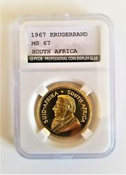 Various Years 1oz Krugerrand 24ct Gold Plated Coin In A Slab Christmas Xmas Gift