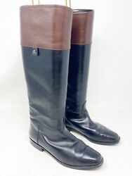 Bally Riding Boots Womens 36.5 / Us 6 Vintage Leather Knee High Italy Designer