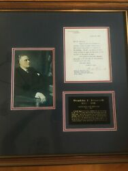 Franklin D. Roosevelt Letter - White House - Great Political Content 400 Off