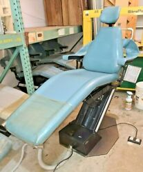 Adec Priority Model 1005 Dental Patient Exam Chair W/ Baby/blue Upholstery