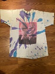 Vintage Pink Floyd Tie Dye 1994 Division Bell Tour T-shirt Xl Band Tee