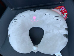 Squishmallow Tally The Cat Gray Travel Neck Pillow Nwt
