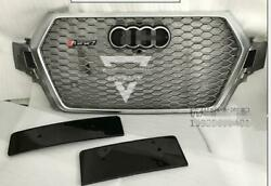 For 16-19 Audi Rsq7 Style Q7 Sq7 Front Grille Upper Black Honeycomb Mesh Grill