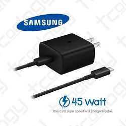 Original Samsung Galaxy 45 Watts Usb-c Super Fast Charging Wall Charger And Cable