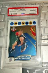 2008-09 Topps Chrome 184 Russell Westbrook Rookie Card Rc Psa 10