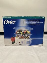 Oster 6.1 Qt. 2 Tier 5711 Food Steamer W/ Egg Cooker Tray/ New In Box