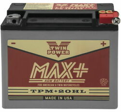 Twin Power Max + Ytx20hl Battery For Harley-davidson Fatboy Lo 2010-2016