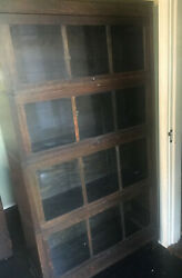 Antique Macey 4 Section Quartersawn Oak Barrister Bookcase - Arts And Crafts