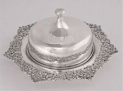 Antique Sterling Silver Covered Butter Dish By Lebkuecher And Co. 1896 - 1909