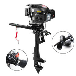 6hp 4stroke Outboard Motor Boat Engine Air Cooling Electronic Ignition Hand Pull