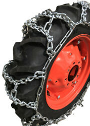 Snow Chains 9.5-38 9.5 38 Duo Grip Tractor V-bar Tire Chains Set Of 2