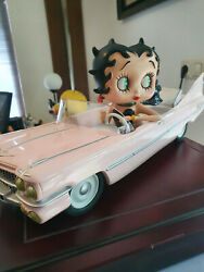 Extremely Rare Betty Boop In Pink Cadillac Car Big Figurine Le Of 2000 Statue