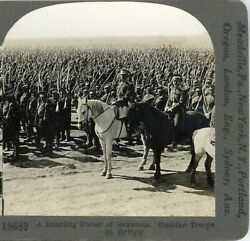 Ww1, Forest Of Bayonets, Russian Troops--keystone Stereoview 4 Of 300 Set