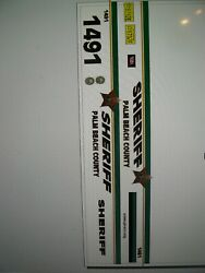Palm Beach County Florida Sheriff vehicle decals 1:64 two for one money