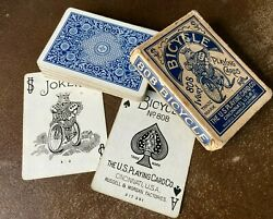 Antique Bicycle 808 Playing Cards Model Back Russell Morgan 52/52 + Joker C1910