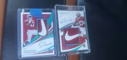 2021 Jaylen Waddle Immaculate Nike Rpa 1/2 And 2/2 On Card Auto Rc