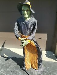 Life Size Animated Witch Talks And Eyes Light Up Read Description
