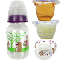 Reborn Bottle Fake Formula Milk And Apple Juice Putty Pacifier Baby Doll Bear