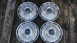 1962 1963 Chevrolet Chevy Corvair Monza Hubcaps Set Of Four 13 Inch