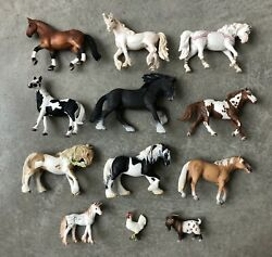 Schleich LOT 12 Horses And More