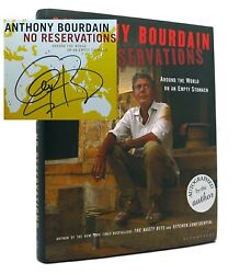 Anthony Bourdain No Reservations Around The World On An Empty Stomach Signed 1st