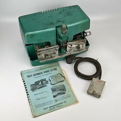 Foley Model 352 Automatic Power Setter W/ Manual And Pedal - Saw Retoother Vintage