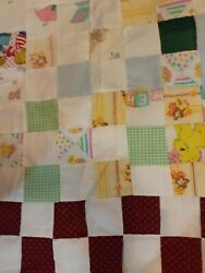 Three 3 Vintage Quilt Tops Hand Stitched With 2 Bags Of Batting