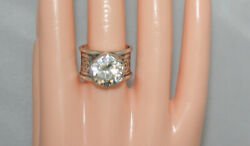 Silpada Sterling Silver Huge Cubic Zirconia Queen For A Day Ring R2208 Sz 8
